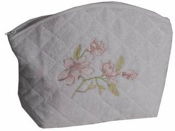 SIRETEX - SENSEI - trousse eponge brod� magnolia 420gr/m� - Trousse De Toilette