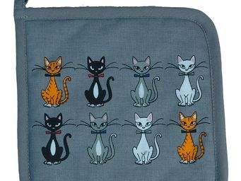 SIRETEX - SENSEI - manique imprim� chat chic gris - Manique