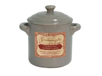 Orval Creations - bougie cocotte parfum�e compot�e de rhubarbe - Bougie Parfum�e