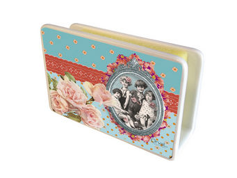 Orval Creations - cache-�ponges portrait de famille - Porte �ponge