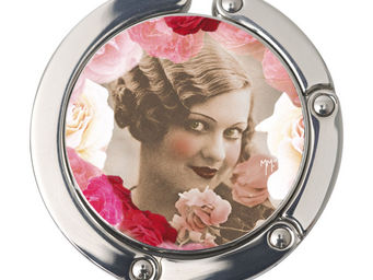 Orval Creations - porte-sac rond roses - Accroche Sac