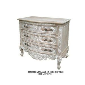 DECO PRIVE - commode versailles 3 tiroirs cerusee - Commode