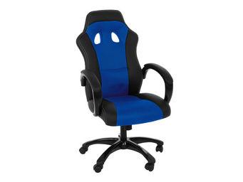 ACHATDESIGN - chaise de bureau race bleu - Chaise De Bureau