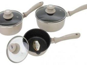 SCHUMANN PROFESSIONNEL - 3 casseroles en pierre cream rock schumann - Casserole
