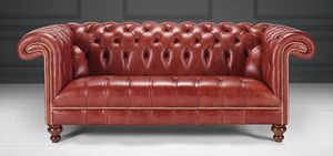 Saxon Leather Upholstery -  - Canap� Chesterfield