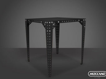 ACHATDESIGN - meuble meccano meccano table haute noir - Mange Debout