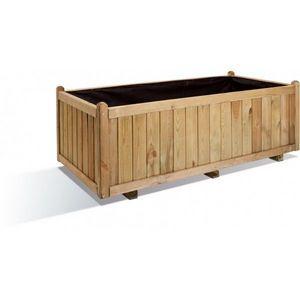 JARDIPOLYS - bac à fleur rectangulaire en bois 312 litres jardi - Bac À Fleurs