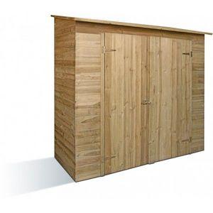 JARDIPOLYS - armoire de jardin double porte en pin jardipolys - Abri De Jardin Bois