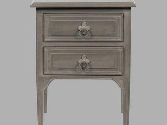 BLANC D'IVOIRE - charlie gris fonc� - Table De Chevet