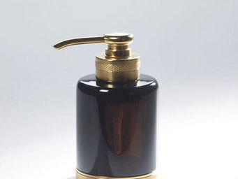 Cristal Et Bronze - obsidienne - Distributeur De Savon