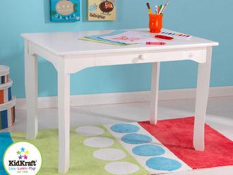 KidKraft - table pour enfant brighton en bois blanc 91x60x62 - Bureau Enfant