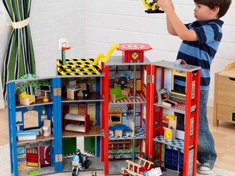 KidKraft - gendarmerie et caserne pompiers en bois pour enfan - Voiture Miniature