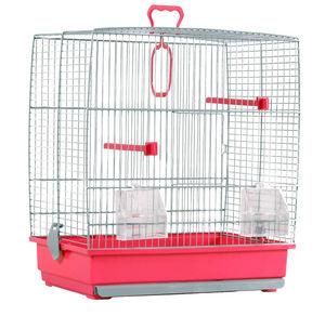 ZOLUX - cage oiseaux charlotte rose 39x25.5x45cm - Cage � Oiseaux