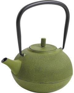 Aubry-Gaspard - théière en fonte verte 1.2 litres 19x16x10cm - Théière