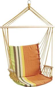 Aubry-Gaspard - fauteuil hamac naranja en coton et polyester 70x70 - Hamac Chaise