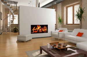 CHEMIN'ARTE - radiateur électrique design feu de cheminée - Radiateur Électrique
