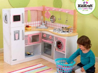 KidKraft - grande cuisine d'angle en bois pour enfant 91x91x - Jouets De Poup�e