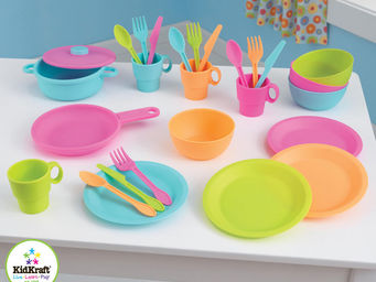 KidKraft - 27 accessoires de cuisine enfant coloris vif - Jouets De Poup�e