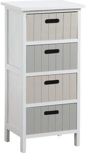 jardindeco - commode 4 tiroirs tradition en medium 35x28x74cm - Colonne De Rangement Simple De Salle De Bains