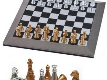 Cm - jeu d'�chec magn�tique - couleur - argent� - Jeu D'�checs