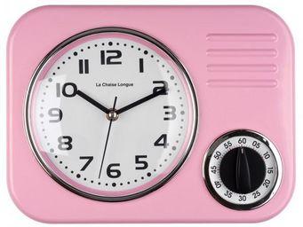La Chaise Longue - horloge minuteur rose - Minuteur