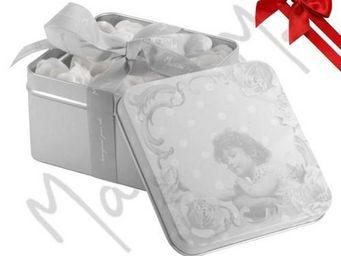 Mathilde M - bo�te roses de savon, senteur rose - 45 gr - mathi - Savon