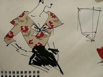 Le Quartier des Tissus - tissu imprime miss couture - Tissu Imprimé