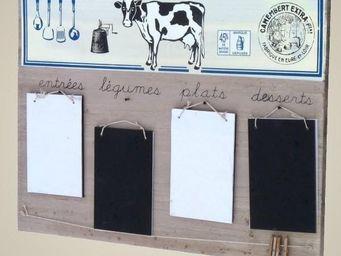 L'HERITIER DU TEMPS - tableau bloc note ardoise murale - Tableau D'affichage