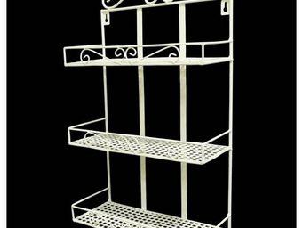 DECO BOIS JARDIN - porte panier 3 etages en fer - Etag�re De Salle De Bains