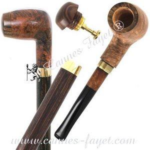 Fabrique De Cannes Fayet - canne pipe en bruy�re - Canne � Syst�me