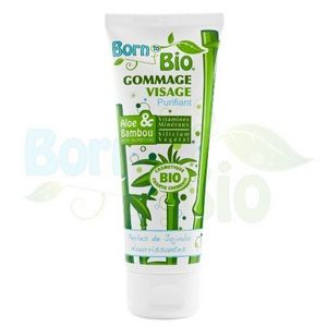 BORN TO BIO - gommage visage bio aloe & bambou - 75 ml - born to - Masque De Soin