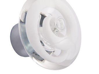 Les Verreries De Brehat - tubes de bulles disque blanc - Bouton De Porte