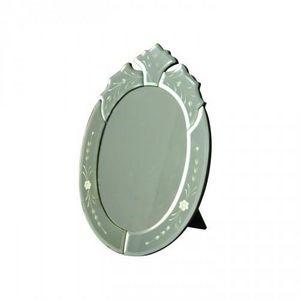 Demeure et Jardin - miroir ovale glace de venise - Miroir À Poser