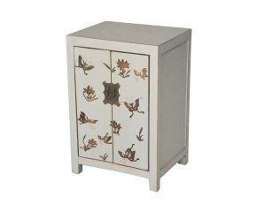 Demeure et Jardin - petit chevet blanc - Table De Chevet