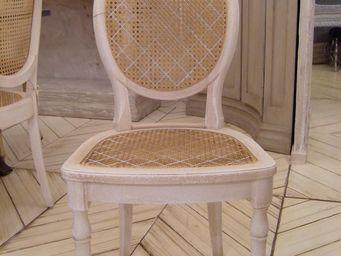 PROVENCE ET FILS - chaise antoinette / assise et dossier avec cannage - Chaise M�daillon