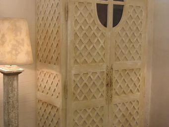 PROVENCE ET FILS - armoire grenier version etageres avec 3 tiroirs s� - Armoire � Portes Battantes