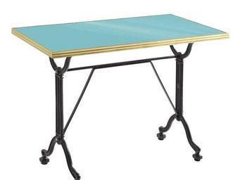 Ardamez - table de repas �maill�e turquoise / laiton / fonte - Table De Repas Rectangulaire