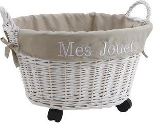 Aubry-Gaspard - corbeille à jouets avec roulettes - Panier De Rangement