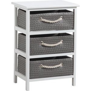 Aubry-Gaspard - meuble 3 panier de rangement corneille - Casier De Rangement