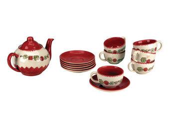 Interior's - coffret théière, 6 tasses et 6 sous-tasses - Service À Thé