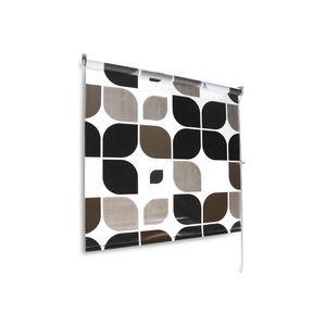 WHITE LABEL - rideau store de douche verticale 105 cm - Rideau De Douche