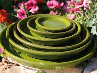 Les Poteries Clair de Terre - mousse citron_ - Dessous De Pot De Jardin