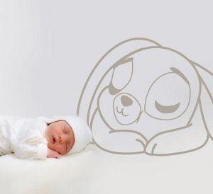 Acte Deco - sweet sleep rabbit - Sticker Décor Adhésif Enfant