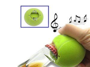 WHITE LABEL - ouvre-bouteille balle tennis avec son décapsuleur - Décapsuleur