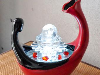 SUNCHINE - fontaine � led boule en verre di venezia - Fontaine D'int�rieur