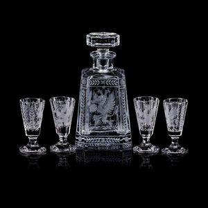 TSAR IMPERIAL - gryphon & eagle pyramid vodka decanter set - Service À Vodka