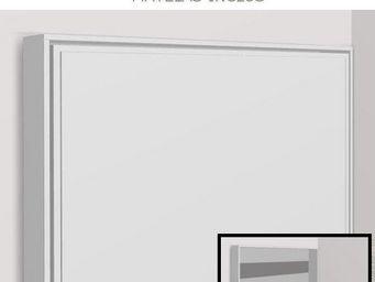 WHITE LABEL - armoire lit escamotable athena, blanche. matelas t - Armoire Lit