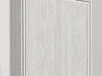 WHITE LABEL - armoire lit escamotable eos, chêne blanc. matelas - Armoire Lit