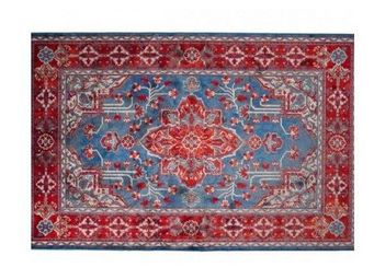 WHITE LABEL - tapis icon rouge de dutchbone - Tapis Berbère