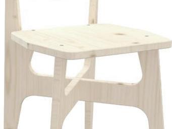 JARDIPOLYS - chaise jardin en bois pr�te � peindre - Chaise Enfant